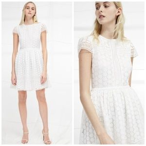 French Connection Parker White Lace Dress